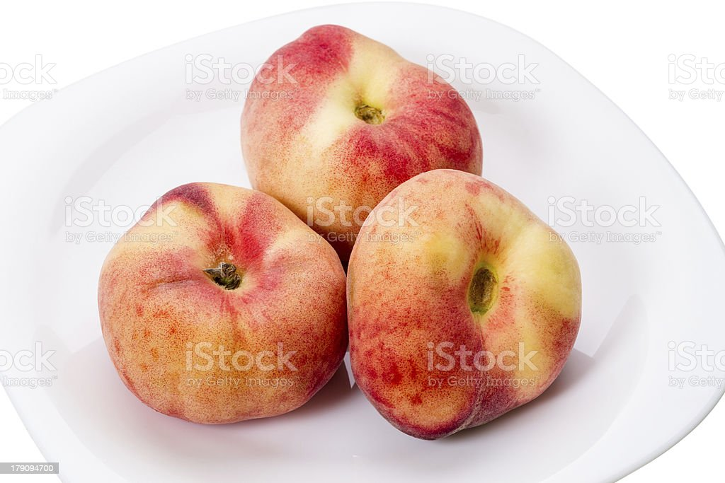 Ripe peaches fig royalty-free stock photo