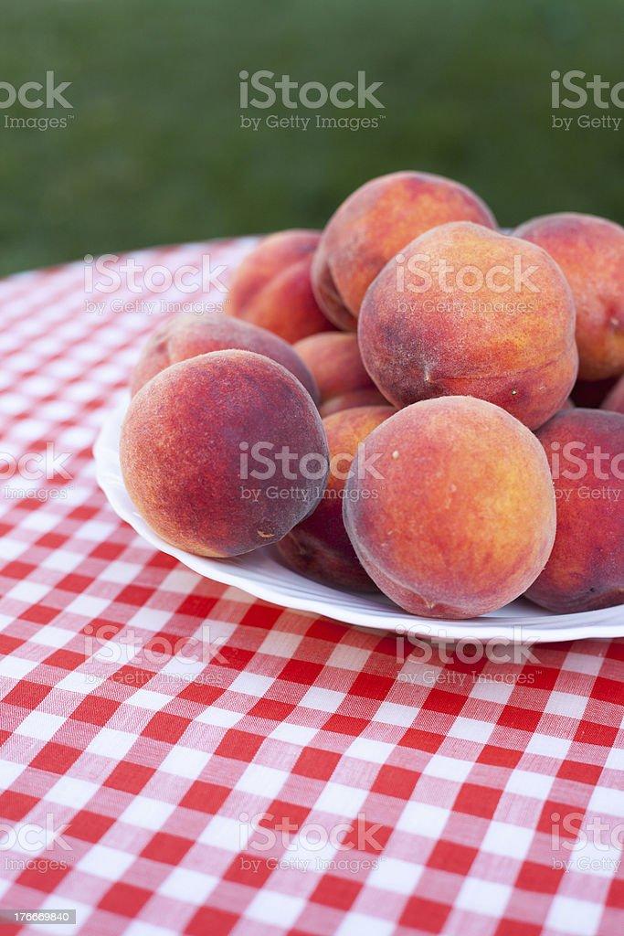 Ripe Peaches royalty-free stock photo