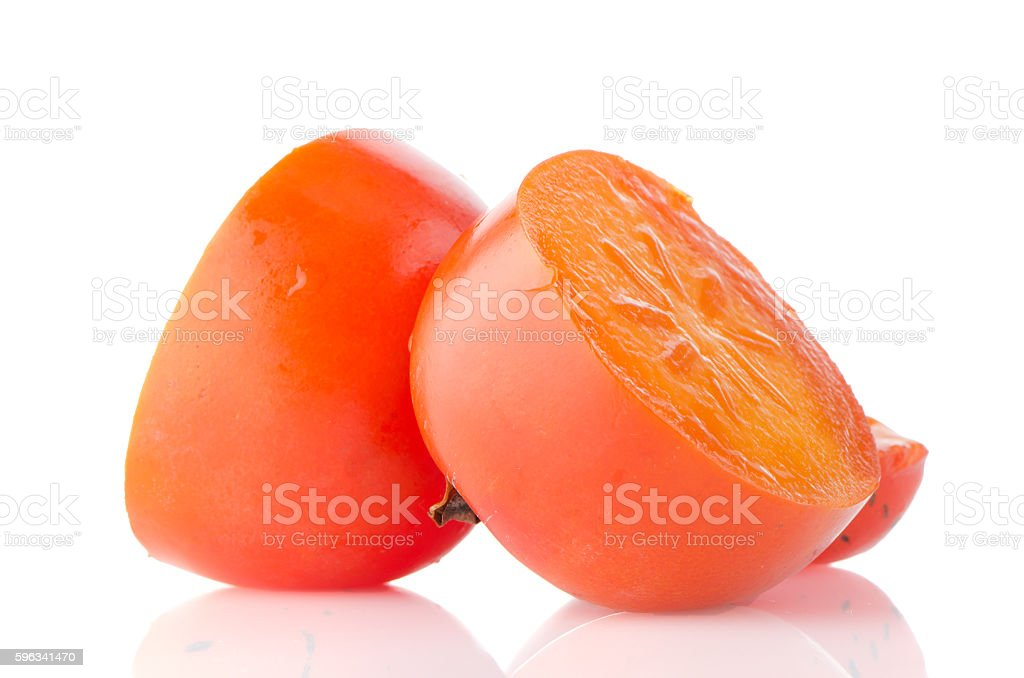 Ripe persimmons royalty-free stock photo