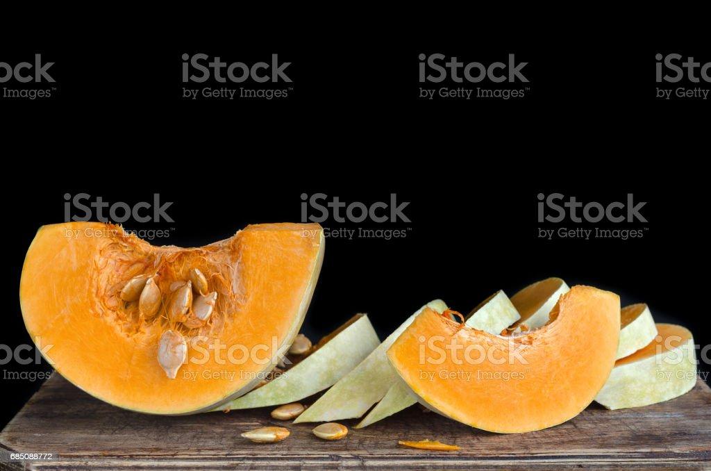 Mûres morceaux de citrouille crue - Photo