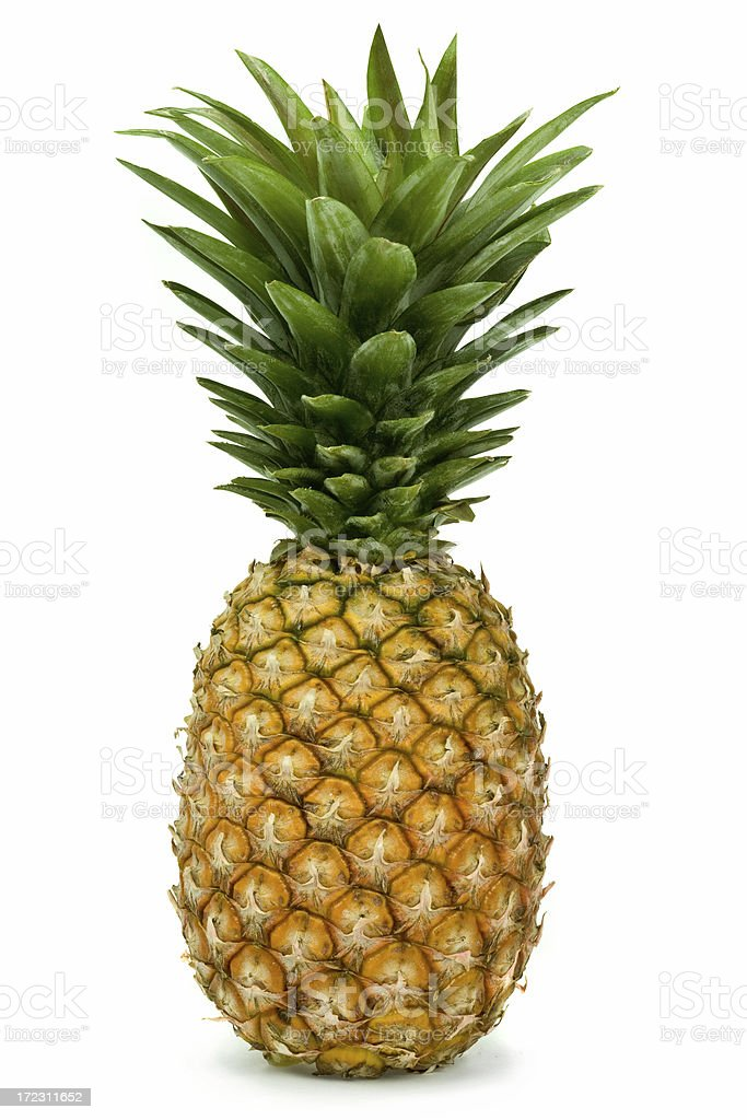 ripe pineapple isolated royalty-free stock photo
