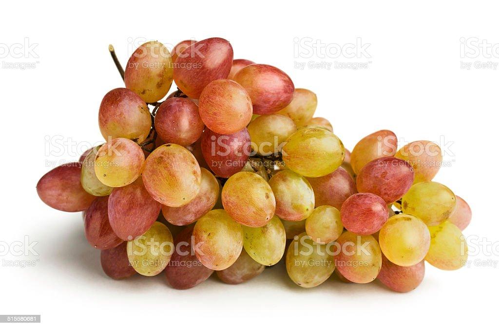 ripe pink grapes stock photo