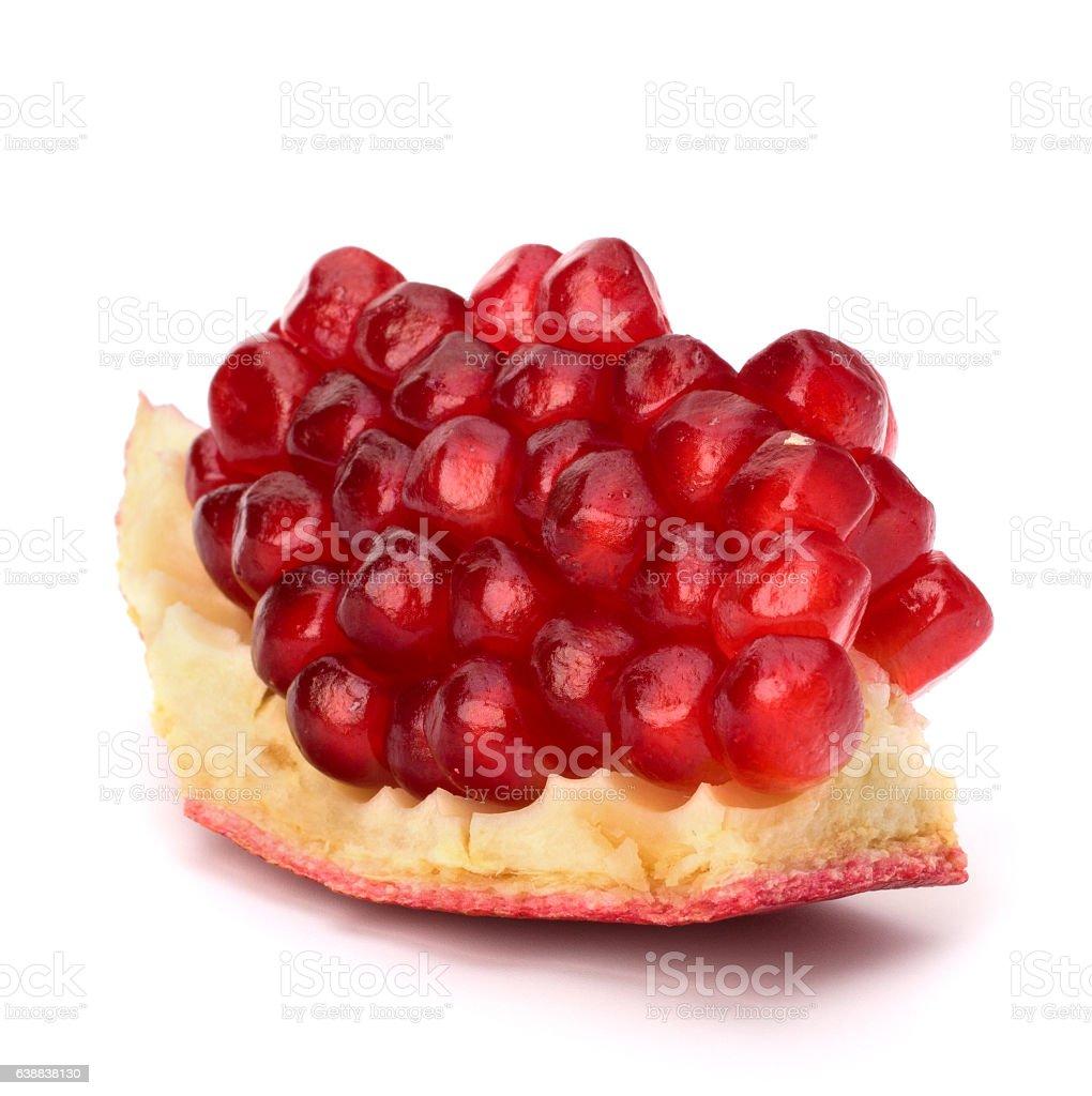 Ripe pomegranate piece stock photo