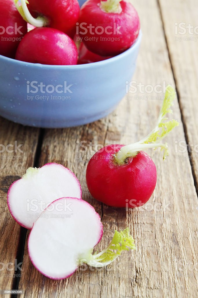 ripe radishes in a bowl royalty-free stock photo