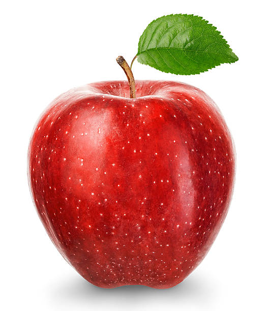 Ripe red apple isolated on a white background. stock photo