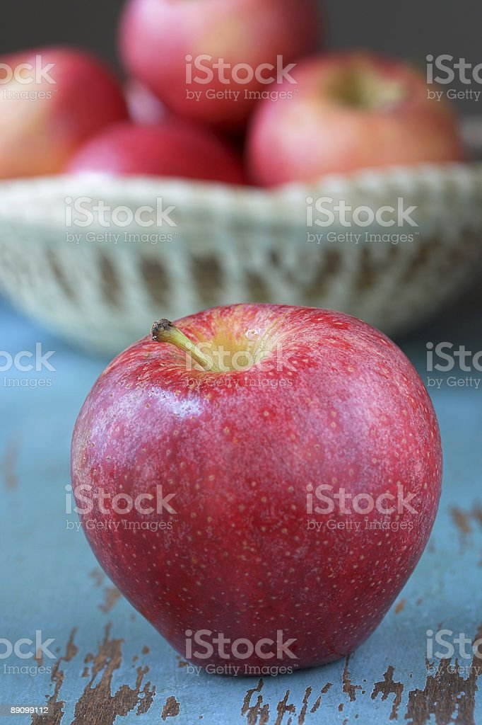 Ripe Red Apple royalty-free stock photo