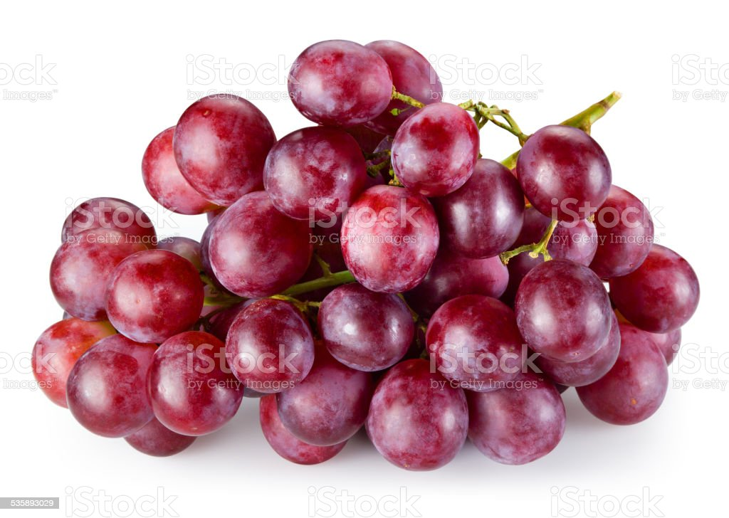 Ripe red grape isolated on white background. With clipping path stock photo