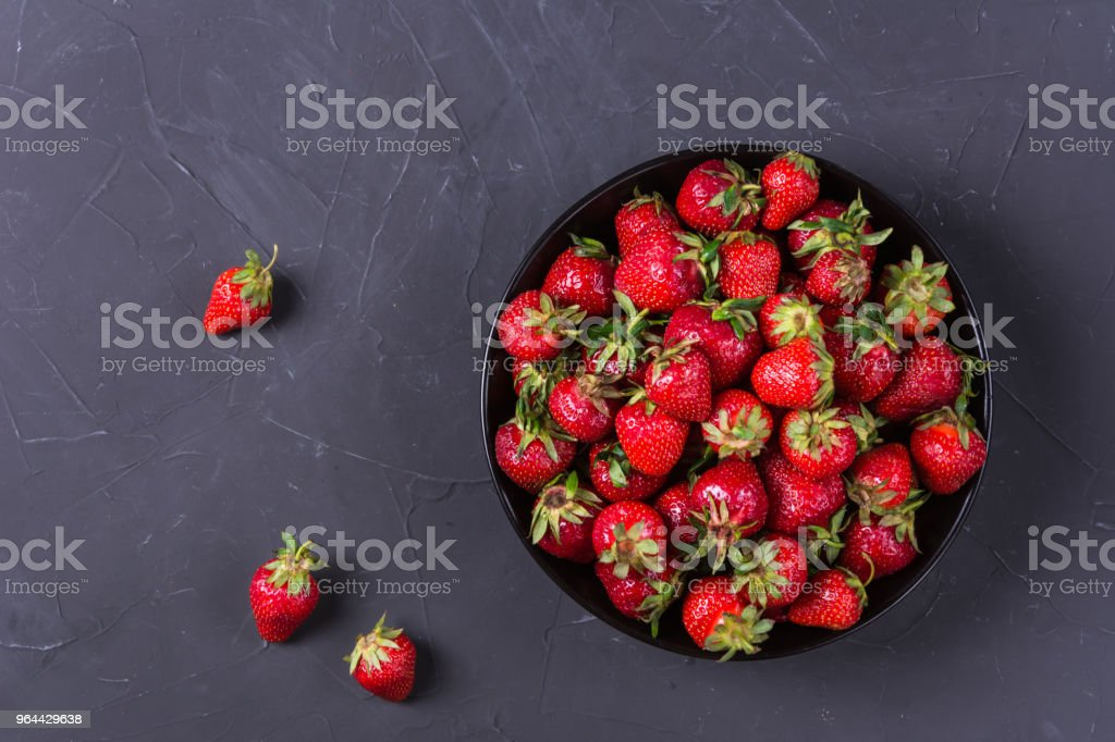 Ripe red strawberries - Royalty-free Bowl Stock Photo