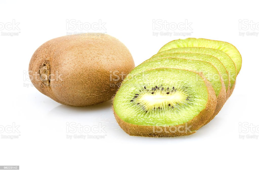 Ripe Sliced Kiwi Fruits Isolated royalty-free stock photo