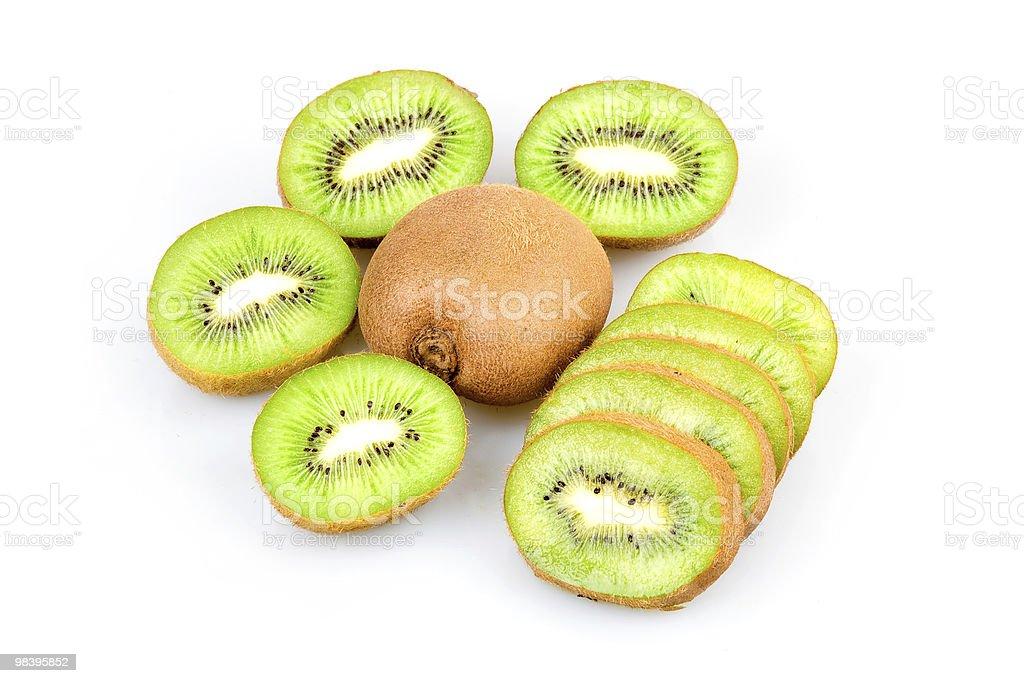 Ripe Sliced Kiwi Fruits Isolated royalty-free stock photo