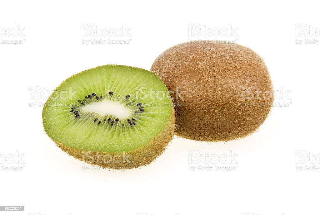 Ripe sliced kiwi isolated royalty-free stock photo