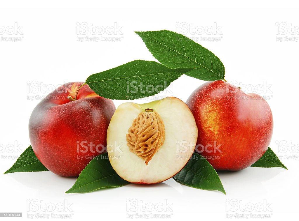 Ripe Sliced Peach (Nectarine) royalty-free stock photo
