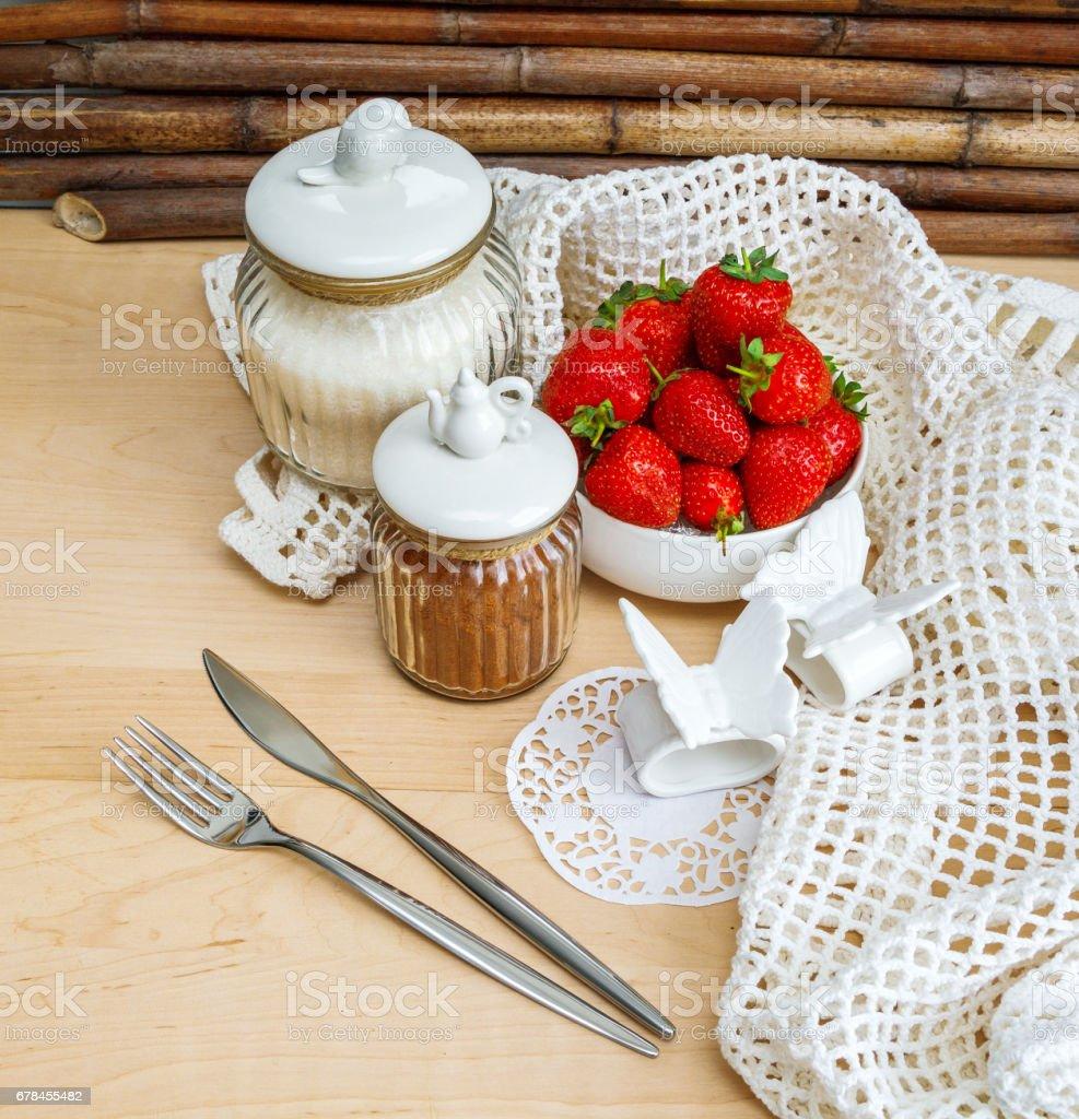 Ripe strawberry, close-up royalty-free stock photo