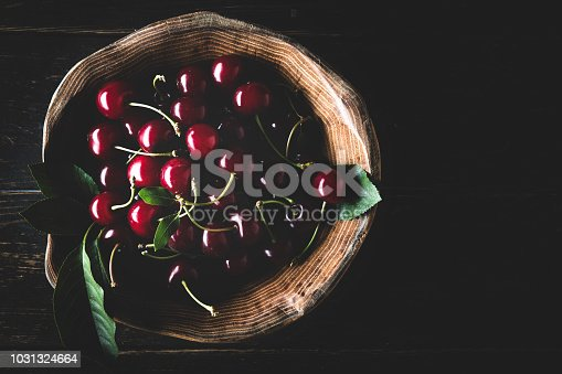 Cherry in dark
