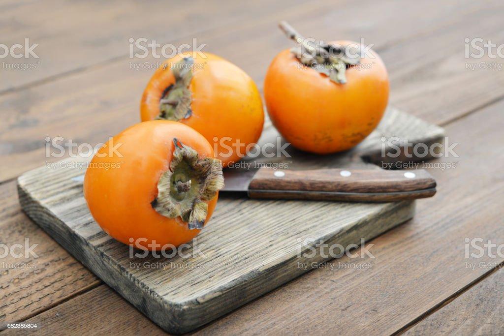 Ripe sweet persimmons foto stock royalty-free