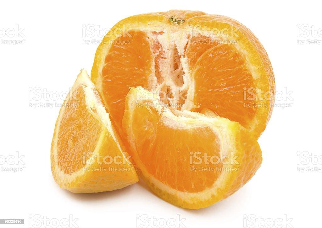 Ripe tangerine royalty-free stock photo
