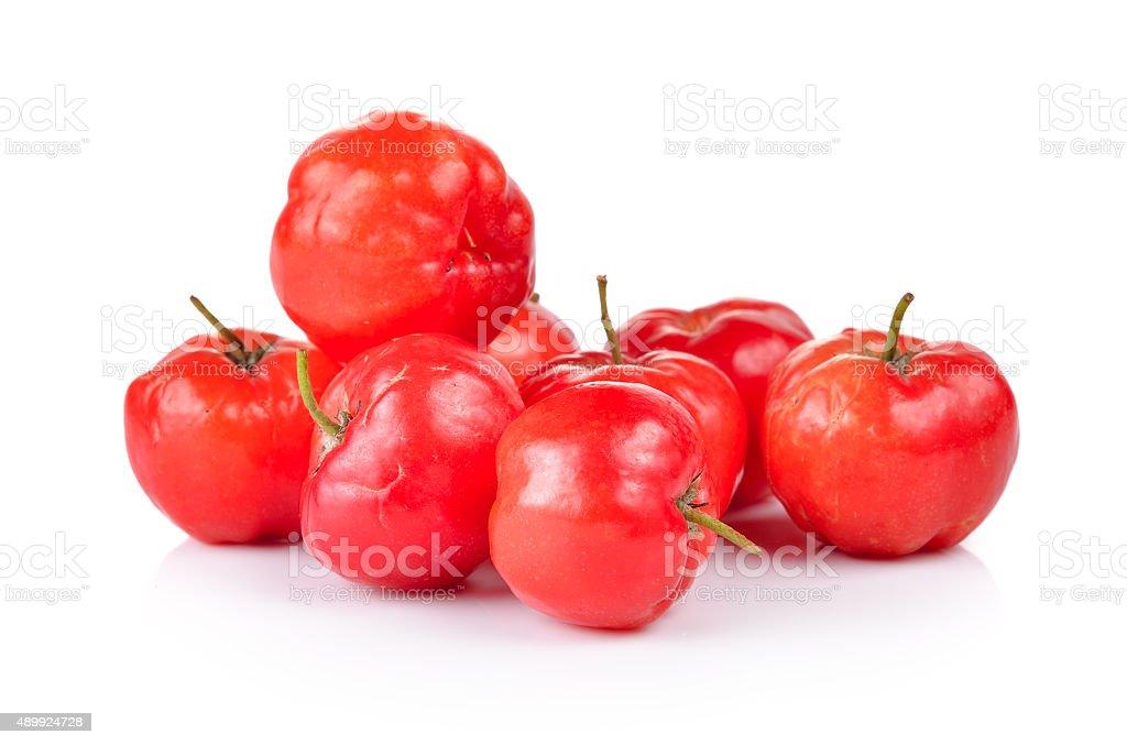 Ripe thai cherry on white background stock photo