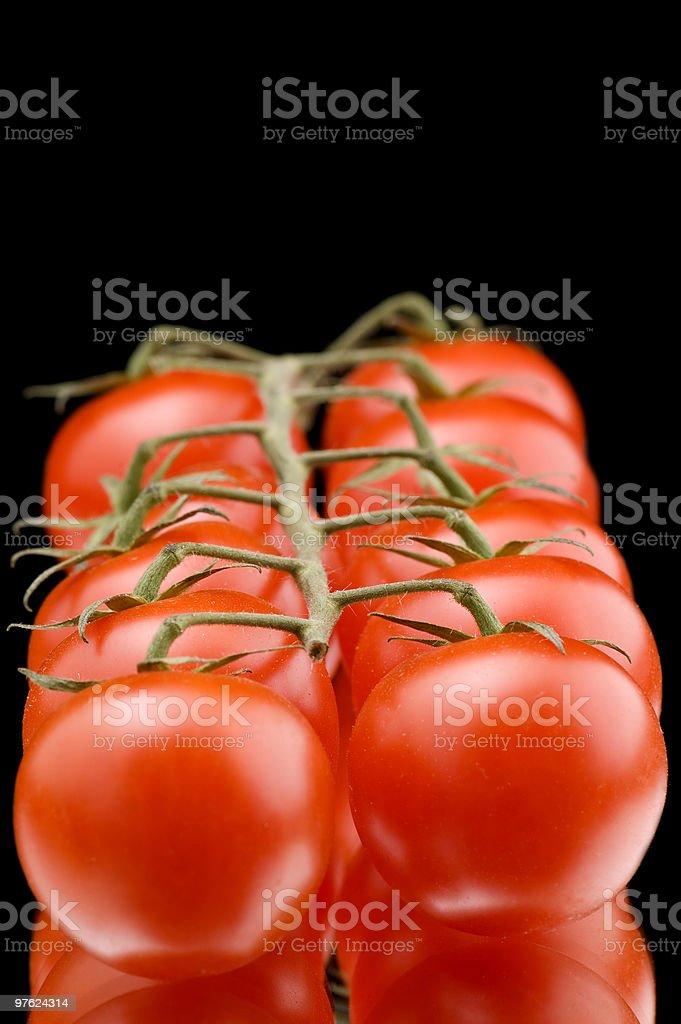 Tomates mûres macro photo libre de droits