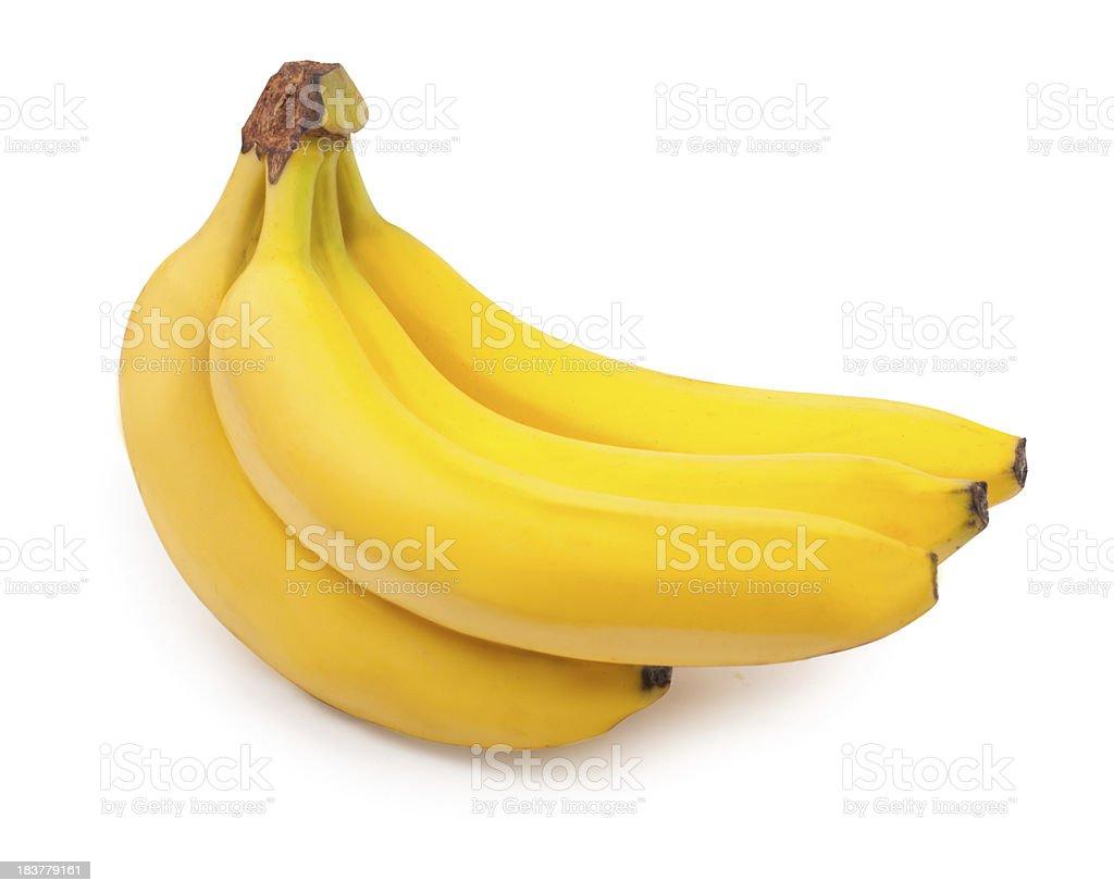 Ripe yellow banana bunch royalty-free stock photo