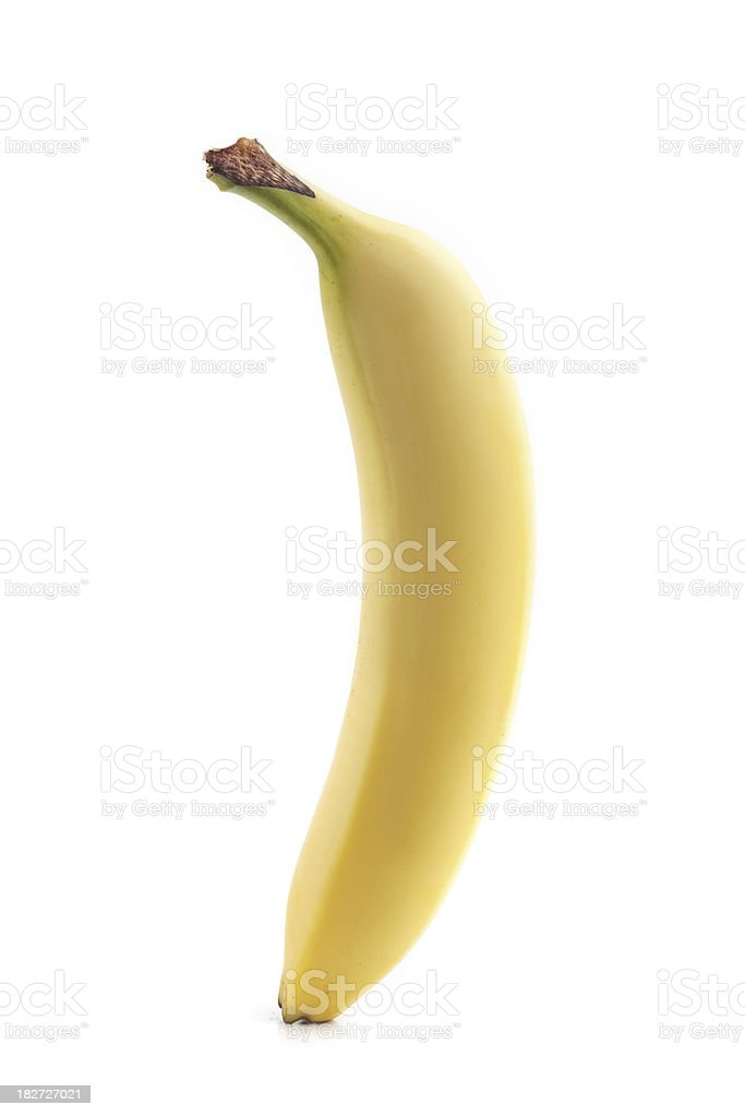 Ripe yellow banana royalty-free stock photo