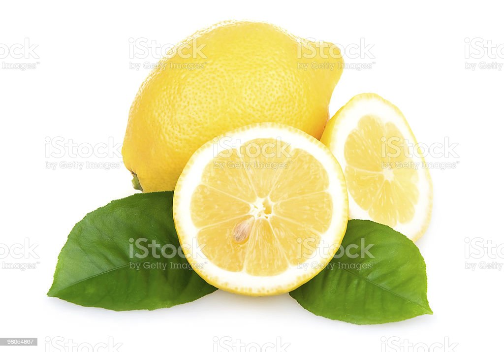 Ripe Yellow Lemons Isolated royalty-free stock photo