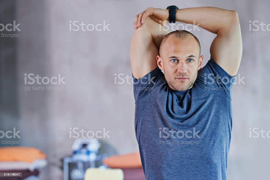 Ripped and ready to work out stock photo