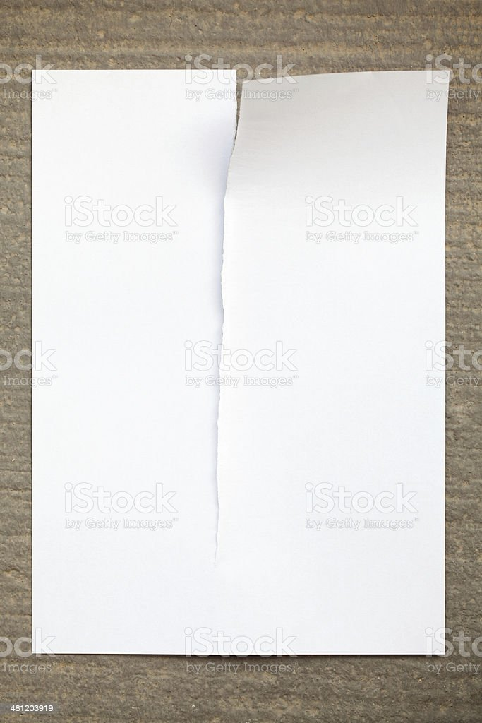 Ripped Blank Paper stock photo