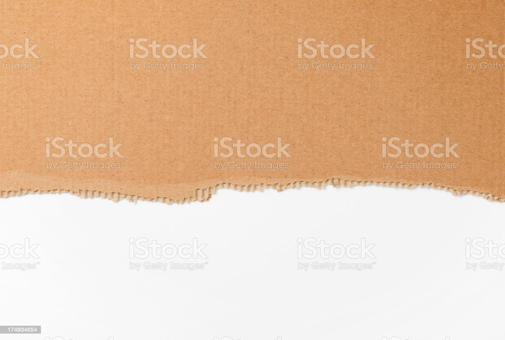 Ripped cardboard royalty-free stock photo