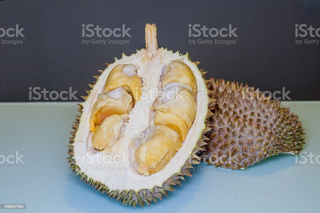 Ripped King of Fruit, Durian stock photo