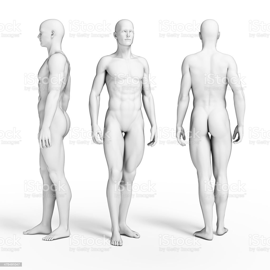ripped male figure stock photo