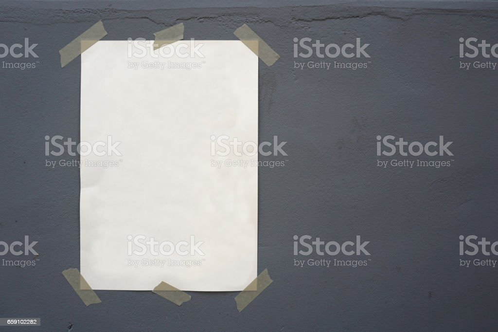 ripped note stock photo