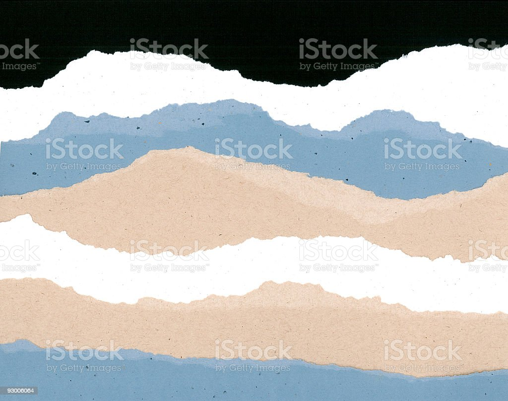 Ripped Paper Edges royalty-free stock photo