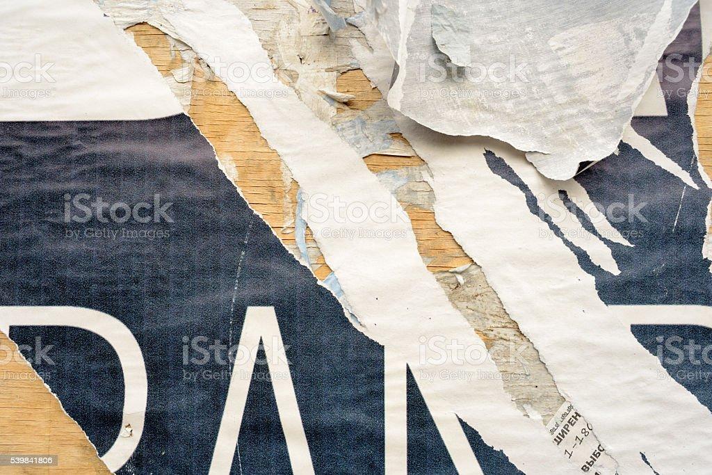 Lacerato strappato carta Manifesto - foto stock