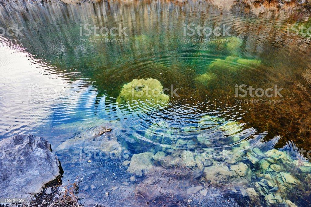 Welligkeit im See – Foto
