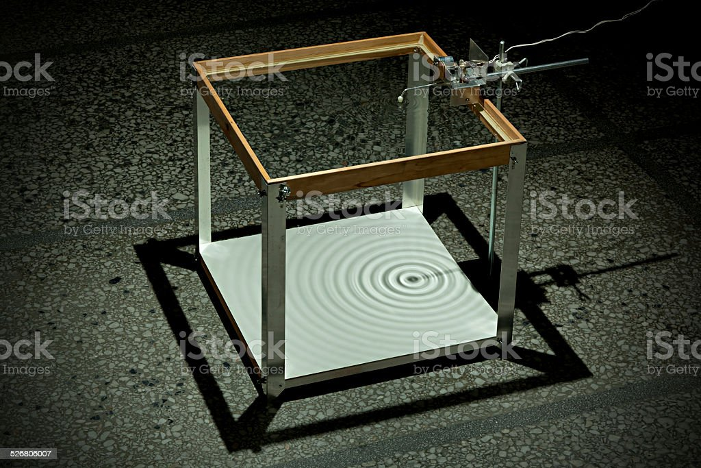 Ripple Tank Experiment Spherical Source stock photo