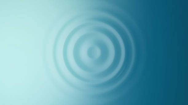 Ripple. Top view. Ripple. Top view. 3D Render. rippled stock pictures, royalty-free photos & images