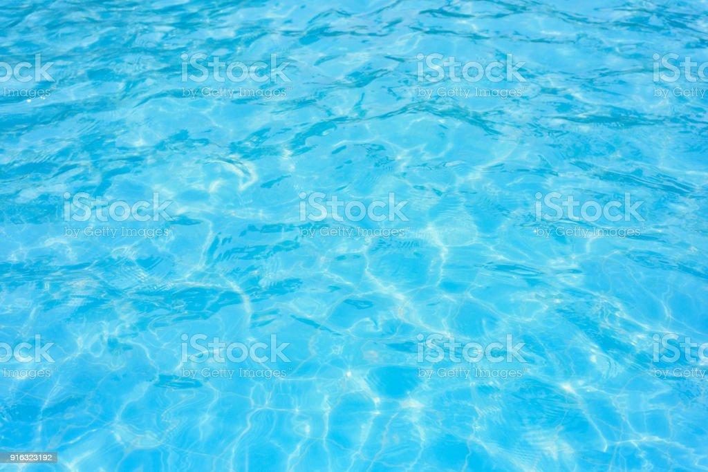 Ripple water in swimming pool - Zbiór zdjęć royalty-free (Basen)