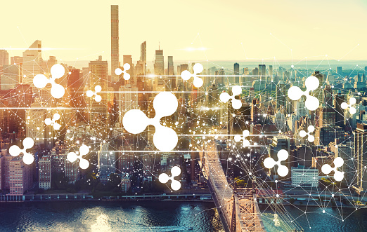 Ripple With The New York City Skyline Stock Photo - Download Image Now