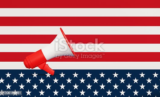 537898300 istock photo Rippled American Flag 1206184931