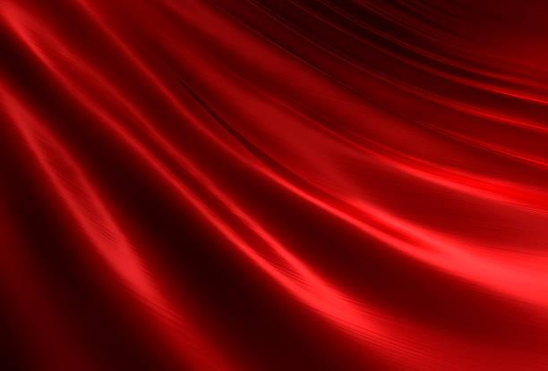 Rippled red silk II stock photo