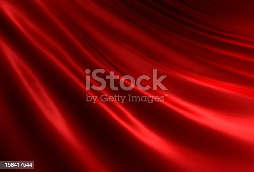 Rippled Red Silk Ii Stock Photo & More Pictures of Abstract