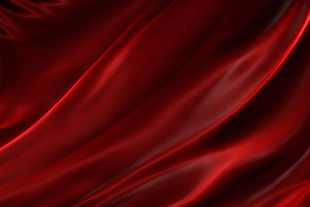 Rippled red silk stock photo