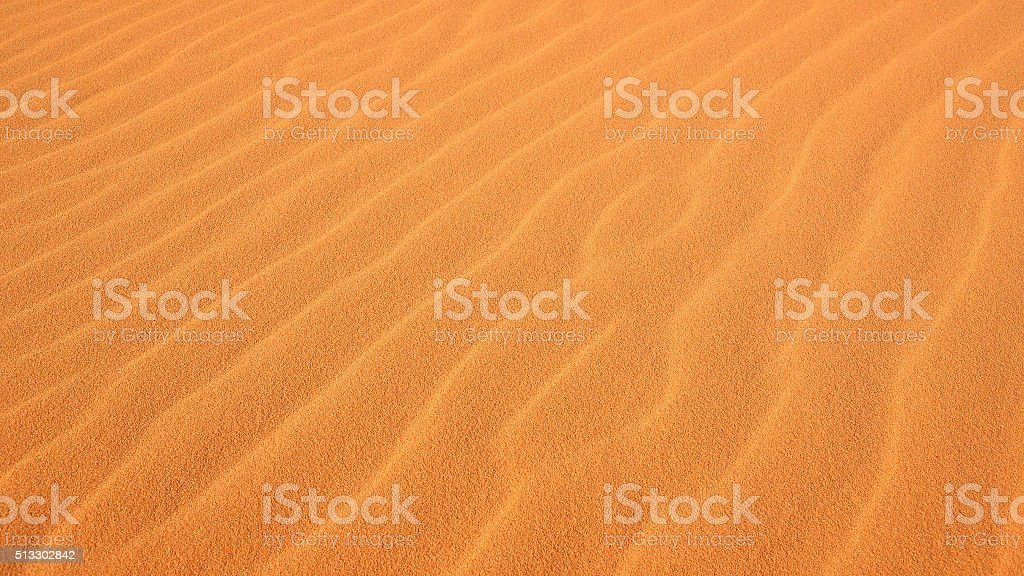 Rippled Sand at Coral Pink Sand Dunes State Park stock photo
