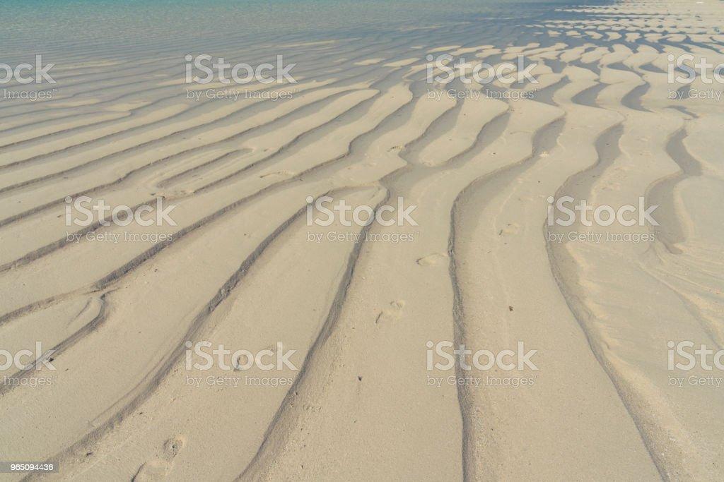 Rippled Sandy beach and turquoise sea on Maldives zbiór zdjęć royalty-free