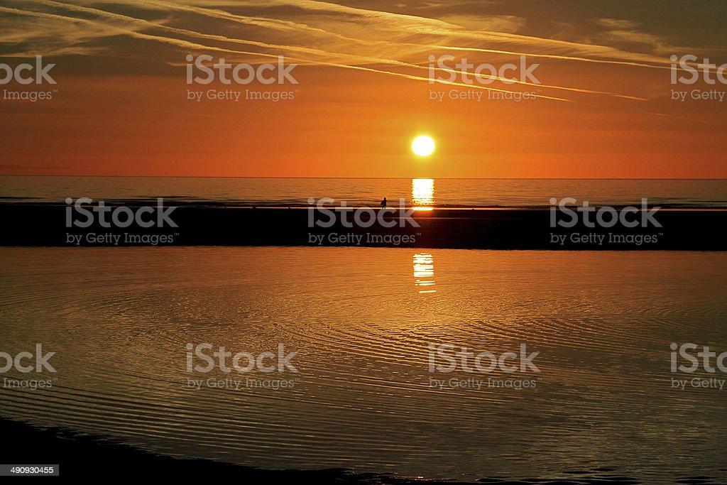 Rippled Sunset stock photo
