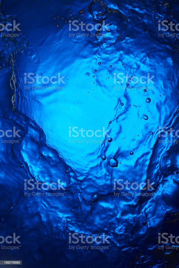 ripples and motion of deep blue water royalty-free stock photo