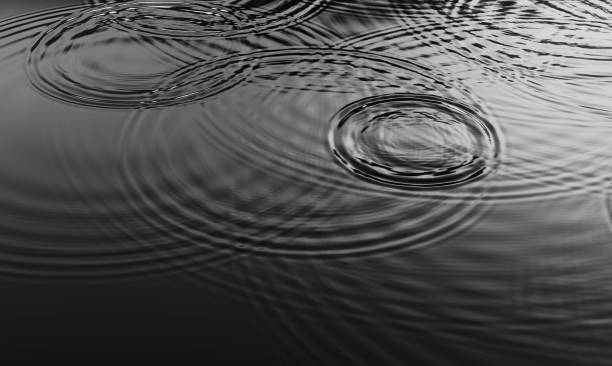 Ripples from Rain Droplets stock photo