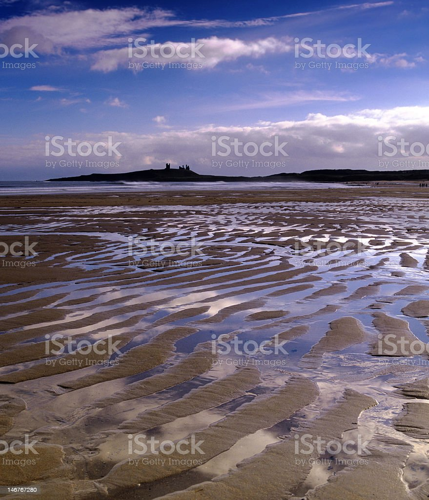 Ripples in the sand, Embleton Bay stock photo