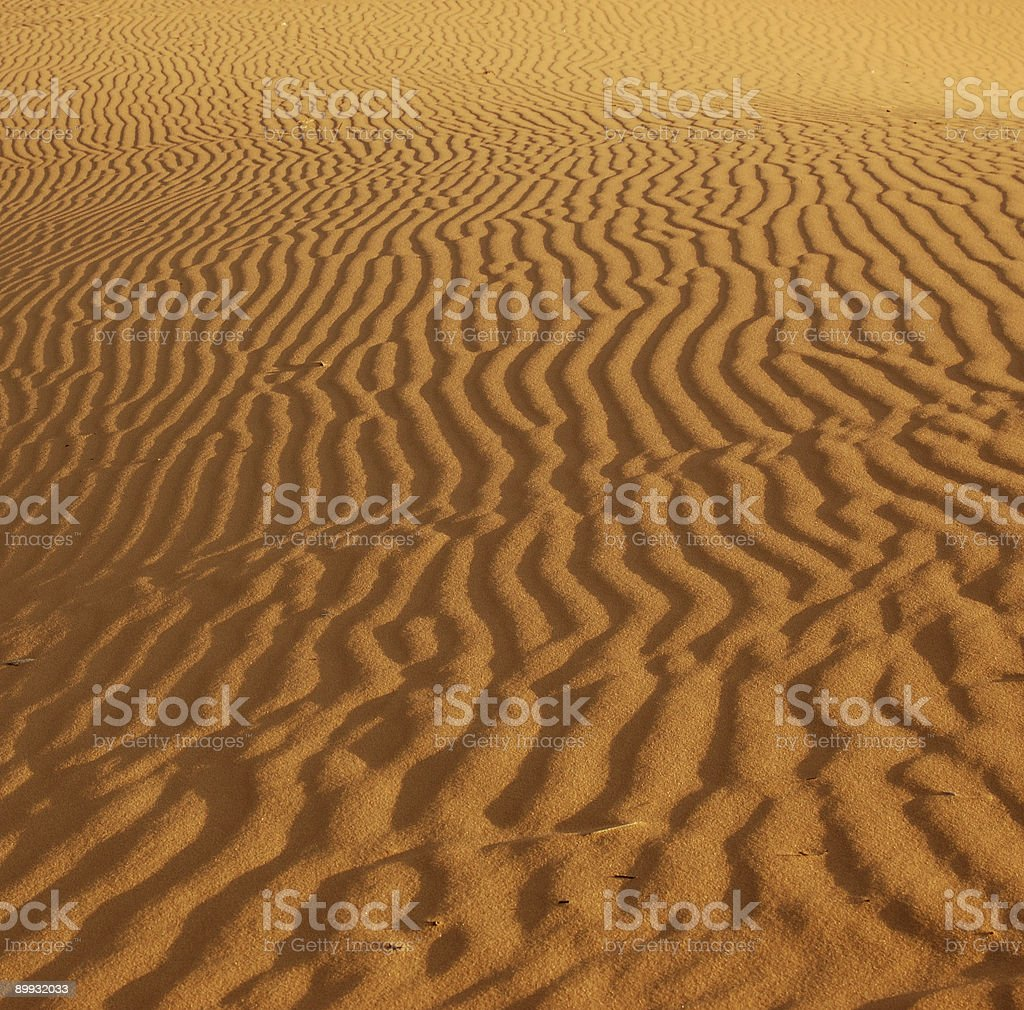 Ripples in the sand stock photo