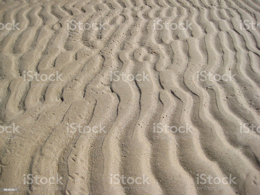 ripples in the sand royalty-free stock photo